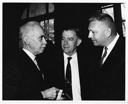 (left to right): Gregory Gordon Pincus (1903-1967), Paul Wilson Brand (1914-2003) and Gudmund Harlem (1917-1988)