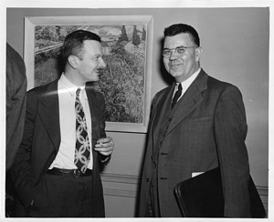 (left to right): Austin Moore Brues (1906-1991) and Edward Uhler Condon (1902-1974)