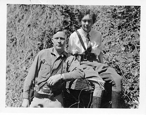 """(left to right): Odd Dahl (1898-1994) and his wife Anna (""""Vesse"""") Dahl"""