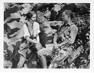 """(left to right): Anna (""""Vesse"""") Dahl and Odd Dahl (1898-1994)"""