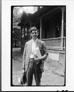 Tennessee v. John T. Scopes Trial: Howard Gale Byrd, outside the Defense Mansion