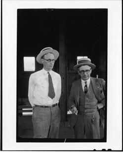 Tennessee v. John T. Scopes Trial: John Thomas Scopes (left) and George Washington Rappleyea (right)