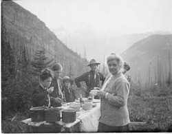 Charles Doolittle Walcott (1850-1927) family campsite in the Canadian Rockies, 1910