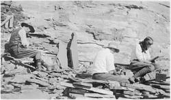 Charles Doolittle Walcott (1850-1927), Sidney Stevens Walcott (1892-1977), and Helen Breese Walcott (1894-1965) c. 1913