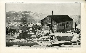 SAO Station Atop Mount Whitney, by Unknown, 1909, Smithsonian Archives - History Div, SIA2008-3163.