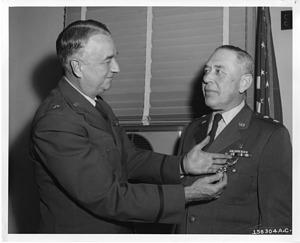 Major General Dan Clark Ogle (left) and Major General Marvin E. Kennebeck (right)