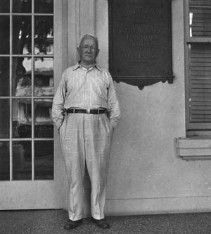 Dr. Herbert C. Clark at the Gorgas Memorial Institute in Panama City, Panama