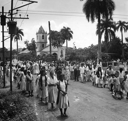 Procession of Santa María Auxiliadora in Soná, Veraguas, Panama, 1953