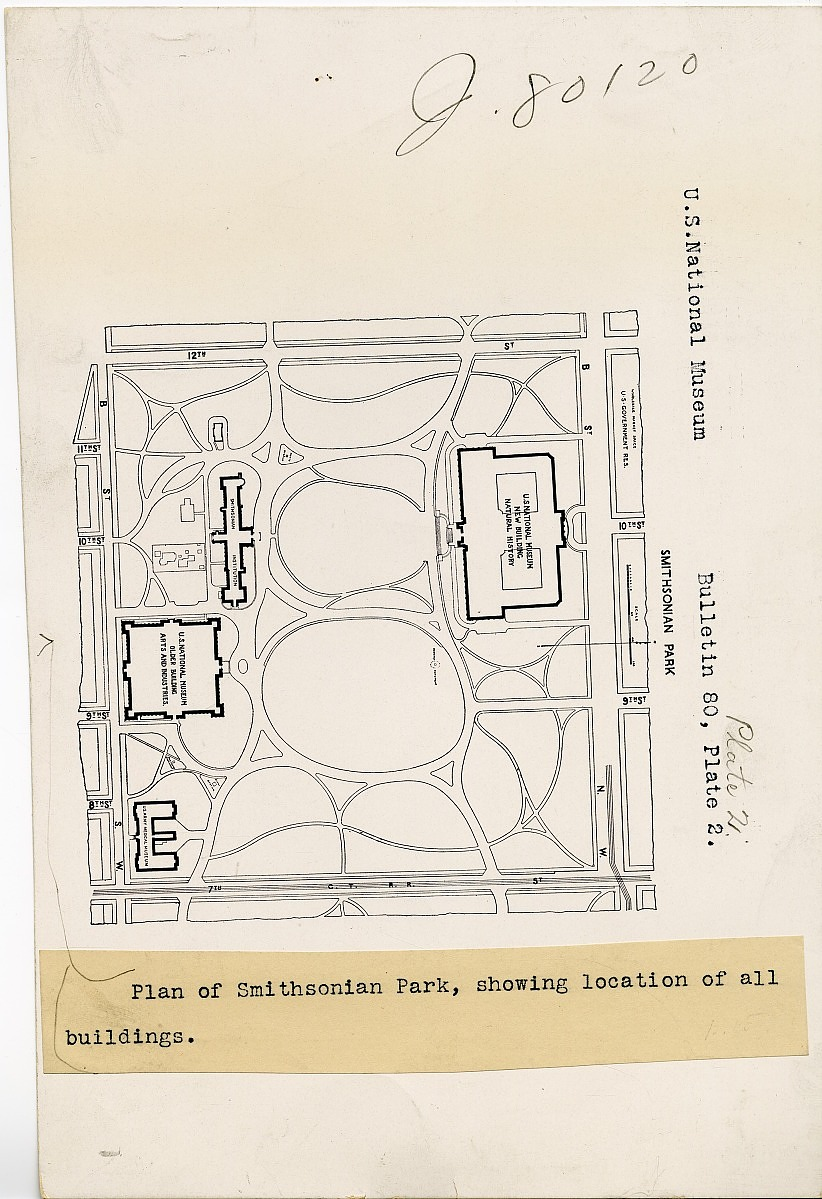 Plan of Smithsonian Park, Smithsonian Institution Archives, SIA RU000079 [SIA2009-1817].