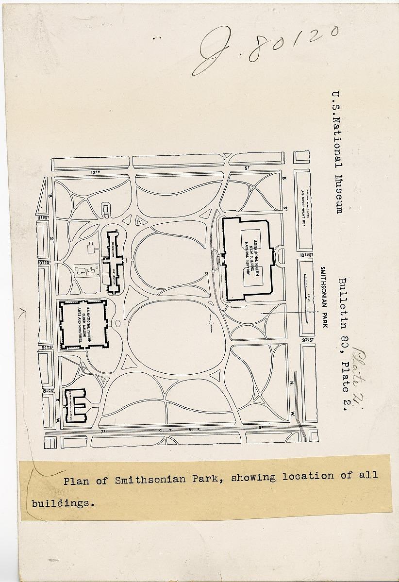 Plan of Smithsonian Park, Smithsonian Institution Archives, SIA RU000079 [SIA2009-1817].