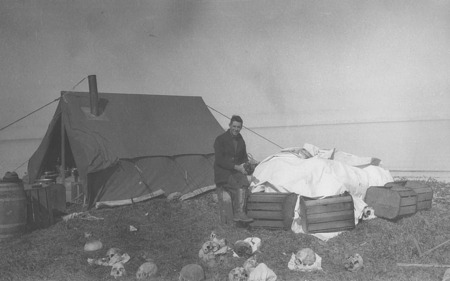 Henry B. Collins, Jr., in Camp in Alaska, 1929