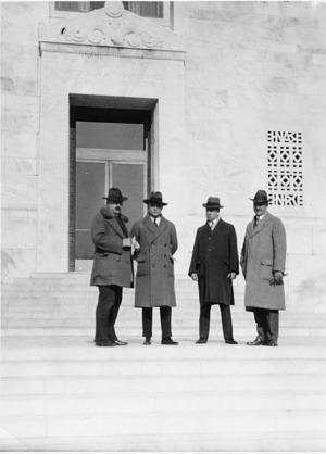 Left to Right: Alfens Klunenc, Friedrich Begrins, E. E. Sloson and William Hale