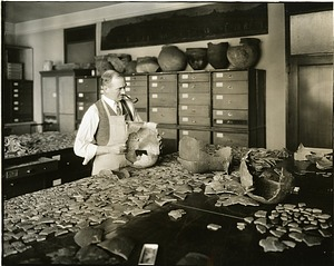 Neil M. Judd in the Lab, by Unknown, circa 1930s, Smithsonian Archives - History Div, SIA2009-4255.