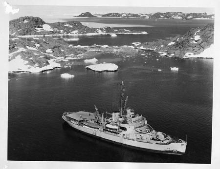 USS Burton Island (AG-88) at the South Pole