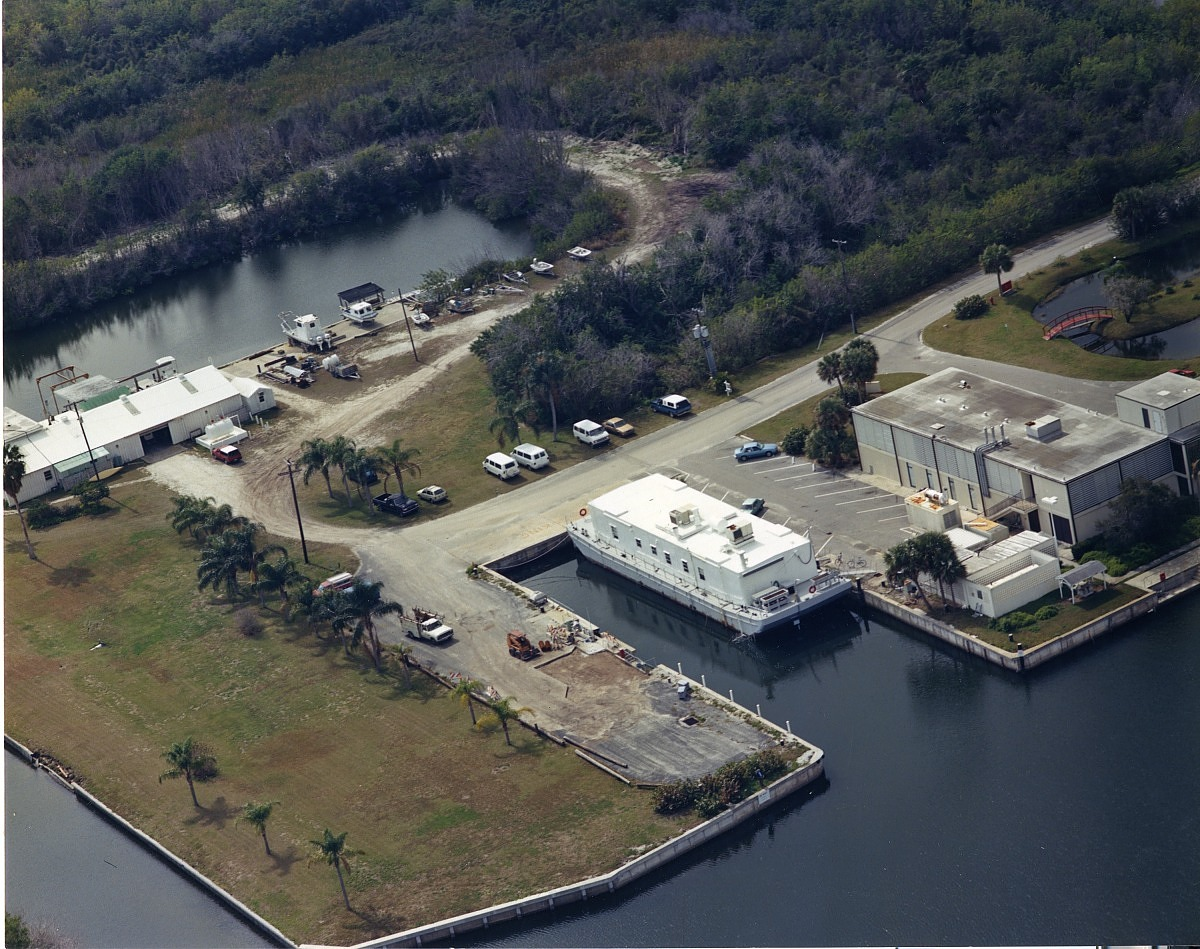 Ft. Pierce Marine Station, c. 1995, Smithsonian Archives - History Div, SIA2010-1064.