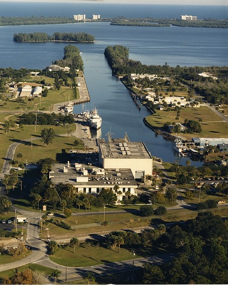 Aerial of Ft. Pierce, c. 1995, Smithsonian Archives - History Div, SIA2010-1065.