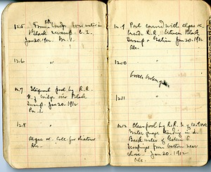 Notebook Page of Charles Dwight Marsh