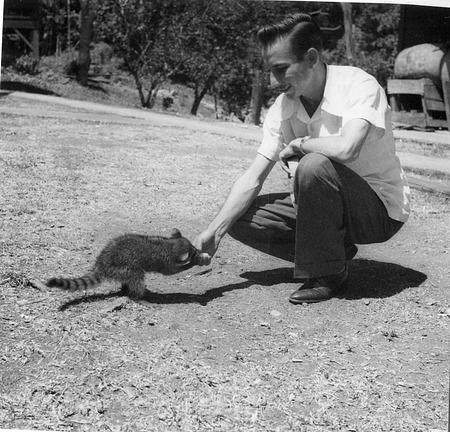 Ratibor Hartmann with a Raccoon
