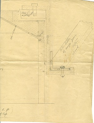 Architectural drawing of Arts and Industries Building Cafe (side 2)