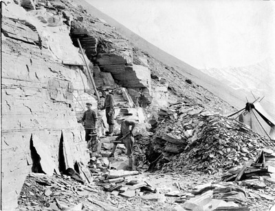 Charles Doolittle Walcott Excavating Burgess Shale