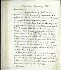 Letter from Alfred Vail to Samuel Morse, January 11, 1857