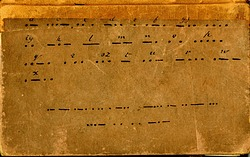 Cover of Alfred Vail's Experiment Notebook