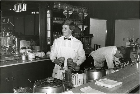 Soda Jerk Dean Robinson in the NMAH Ice Cream Parlor