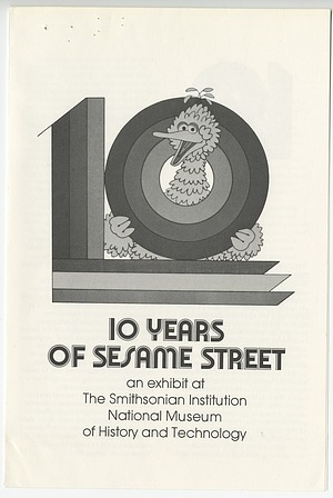 "Cover Page to ""10 Years of Sesame Street"" Pamphlet"