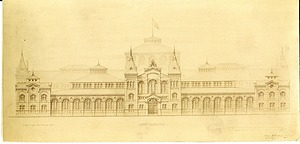 Arts and Industries Building Drawing 1878