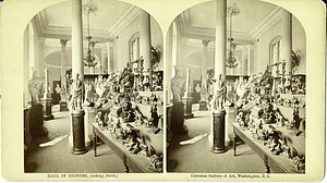 Hall of Bronzes, Interior of the Corcoran Gallery of Art, 19th Century