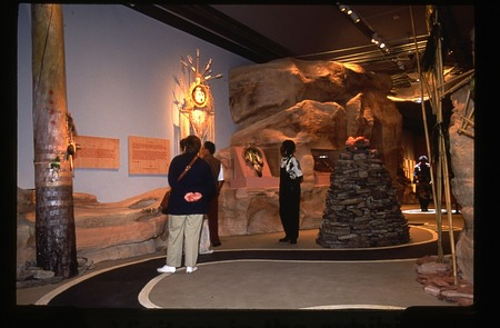 """Visitors at """"Path We Travel"""" Exhibit at the George Gustav Heye Center"""