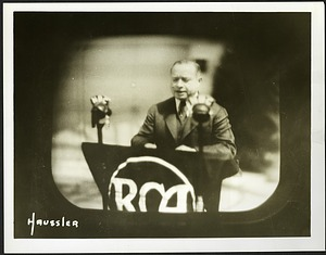 David Sarnoff (1891-1971) as Seen by TV Viewers at the 1939 World's Fair