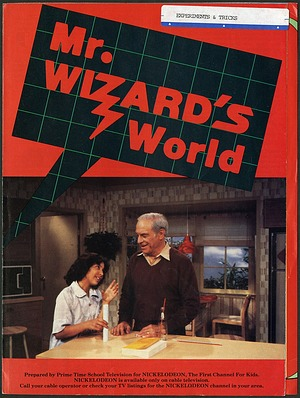 """Cover of Brochure for """"Mr. Wizard's World"""""""