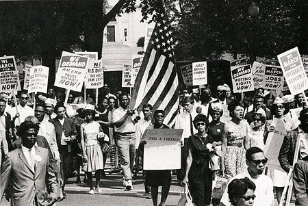 Marchers in Martin Luther King, Jr.'s, 1963 March on Washington