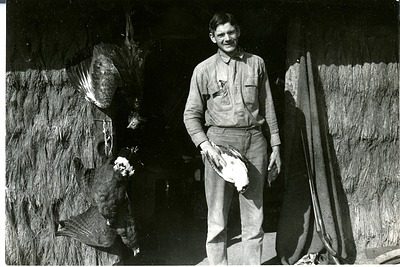 Alexander Wetmore at his Work Quarters in Argentina