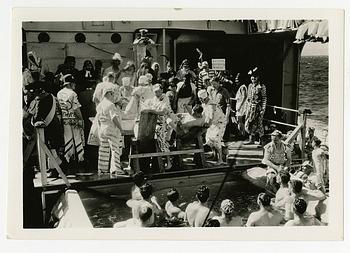 Shellback Ceremony aboard USS Houston, Presidential Cruise, 1938