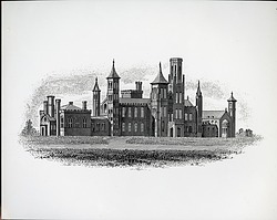 Smithsonian Institution Building Exterior Line Drawing
