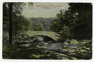 Postcard of Boulder Bridge in Rock Creek Park
