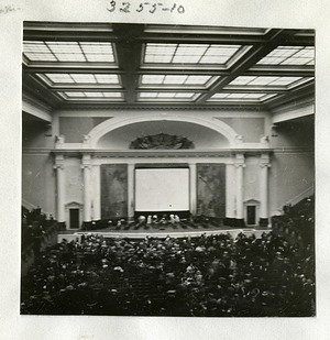 Attendees to a Lecture by Lincoln Ellsworth at DAR Constitution Hall