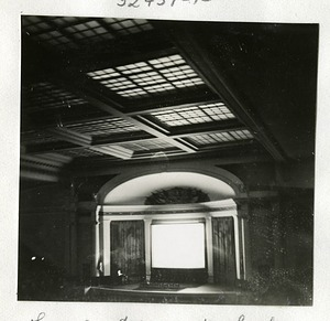 DAR Constitution Hall Stage during a Lecture by Lincoln Ellsworth