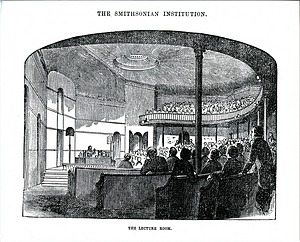 Filled Lecture Hall in the Smithsonian Institution Building