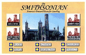 Home Page of the Smithsonian's First Website