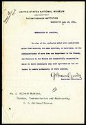 George Brown Goode Memorandum to Curators
