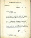 Memorandum to Curators from George Brown Goode