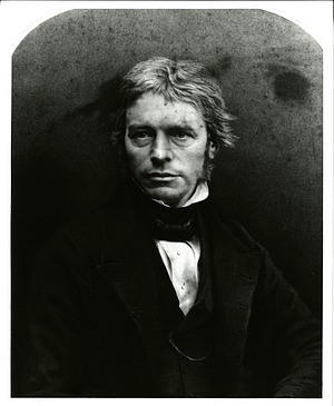 Michael Faraday, by Unknown, c. 1830s, Smithsonian Archives - History Div, SIA2012-1087 and SA-523.