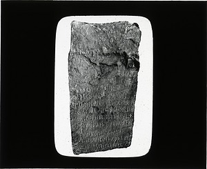 Engraved Stone Tablet, 1890, Smithsonian Institution Archives, SIA Acc. 12-492 [SIA2012-6570].