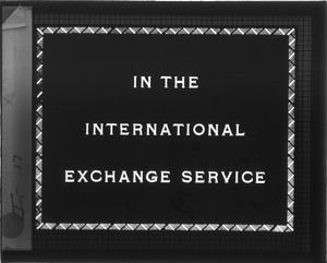 In the International Exchange Service
