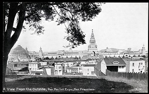 Outside View Postcard from the Panama-Pacific Exposition
