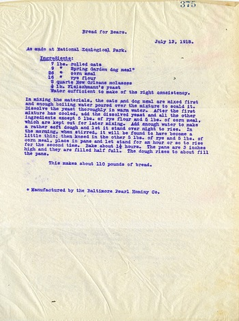 National Zoological Park General Letters October 20, 1917 to October 21, 1918, Page 375