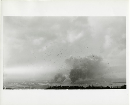 View of the Japanese Attack on Pearl Harbor